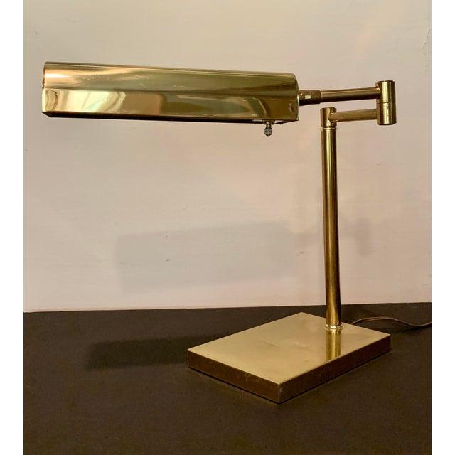 Vintage Brass Extendable Arm Pharmacy, Antique Brass Pharmacy Desk Lamp