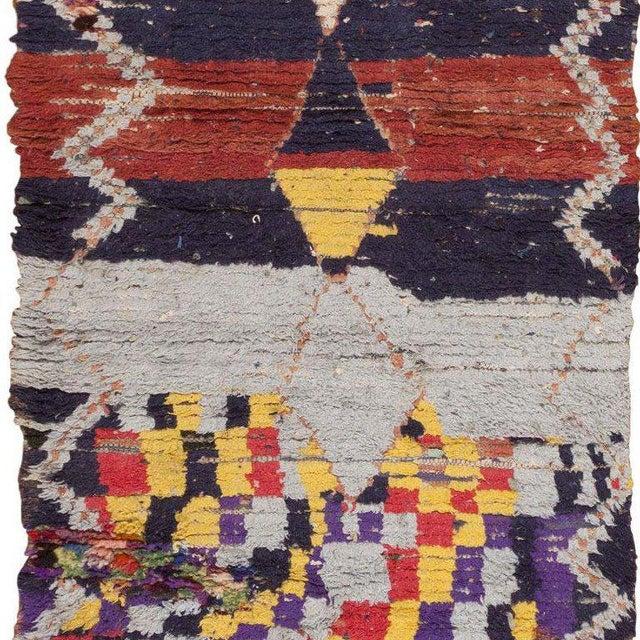 Vintage Moroccan Rug - 3′ × 6′6″ For Sale - Image 4 of 6
