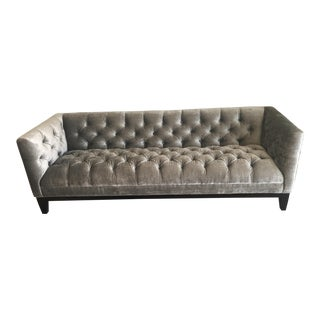 Modern Tufted Velvet Sofa For Sale