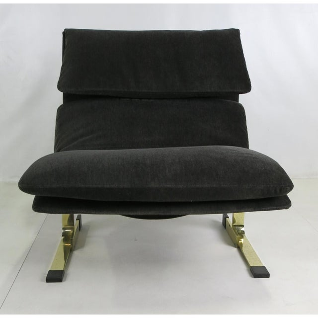 Onda Chair And Ottoman In Missoni Fabric By Giovanni: Fine Pair Of Bronze Onda Lounge Chairs By Saporiti Italia