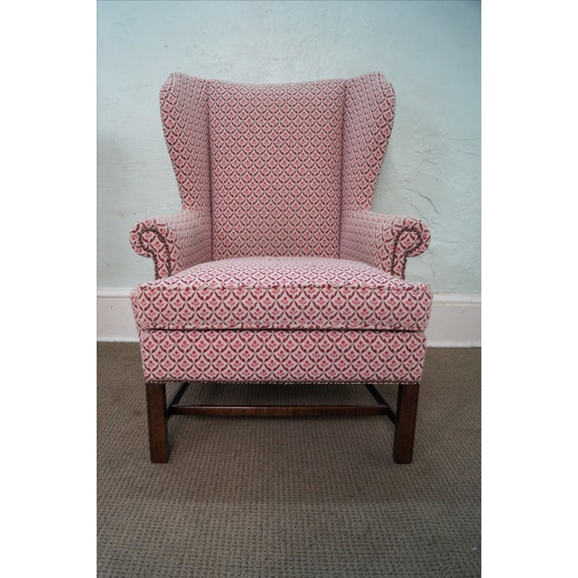 Baker Chippendale Style Wing Chairs - A Pair - Image 8 of 10