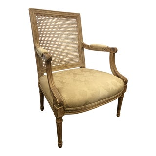 French Carved Caneback Arm Chair