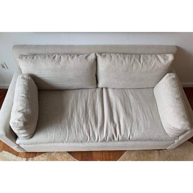 Restoration Hardware Belgian Track Arm Sofa For Sale In New York - Image 6 of 7