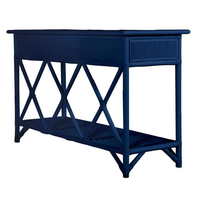 Coastal Aruba Sideboard - Navy Blue For Sale - Image 3 of 5
