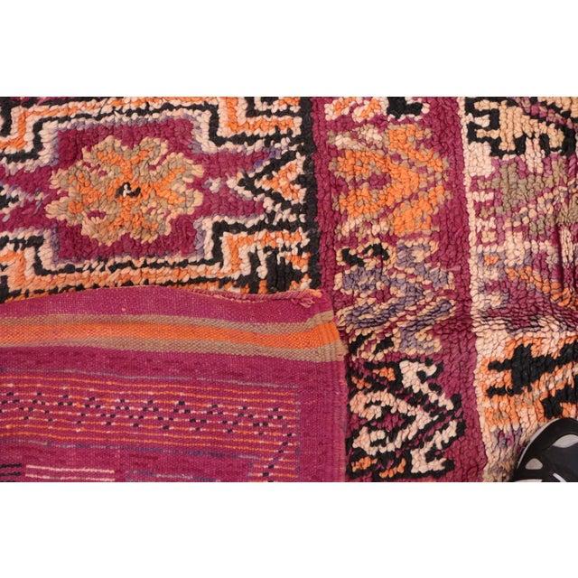 "Vintage Moroccan Beni M'Guild Rug - 6'6"" x 13'3"" For Sale - Image 4 of 4"