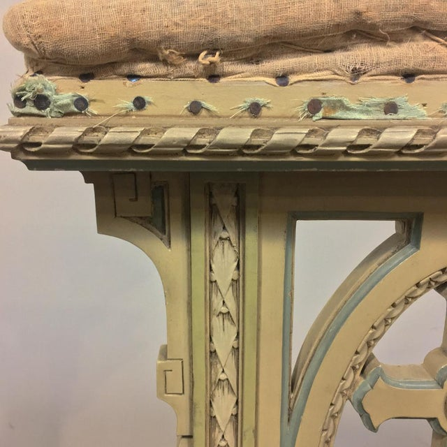 Wood 19th Century Italian Neoclassical Painted Prayer Kneeler - Prie Dieu For Sale - Image 7 of 11