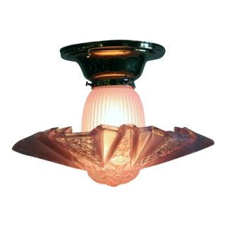 """1930s Art Deco """"Modernizer"""" Semi Flush Light For Sale"""