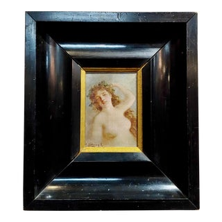 19th Century Art Nouveau Nude Oil Painting by István Burchard-Belavary For Sale