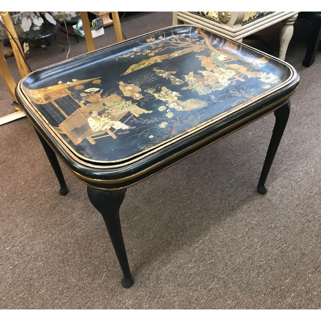 19th Century 19th Century Chinoiserie Tea Table For Sale - Image 5 of 7