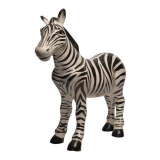 1970s Mid Century Italian Ceramic Zebra