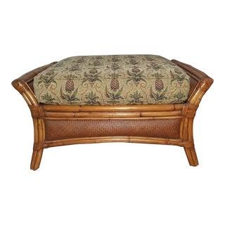 Ethan Allen Pineapple Wooden Ottoman