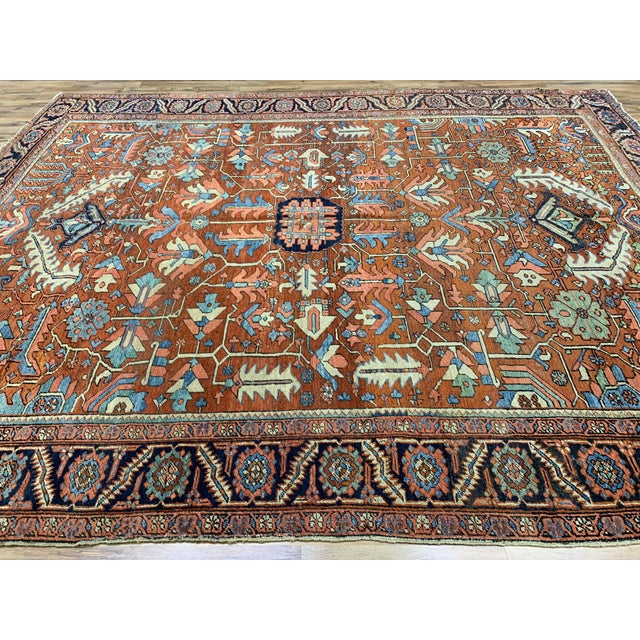 Antique Persian Sarapi Rug For Sale - Image 4 of 12