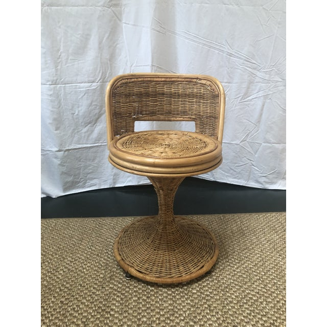Fun swivel wicker stools that can be used in almost any room whether it be the Kitchen, Morning Room, Den or a child's...