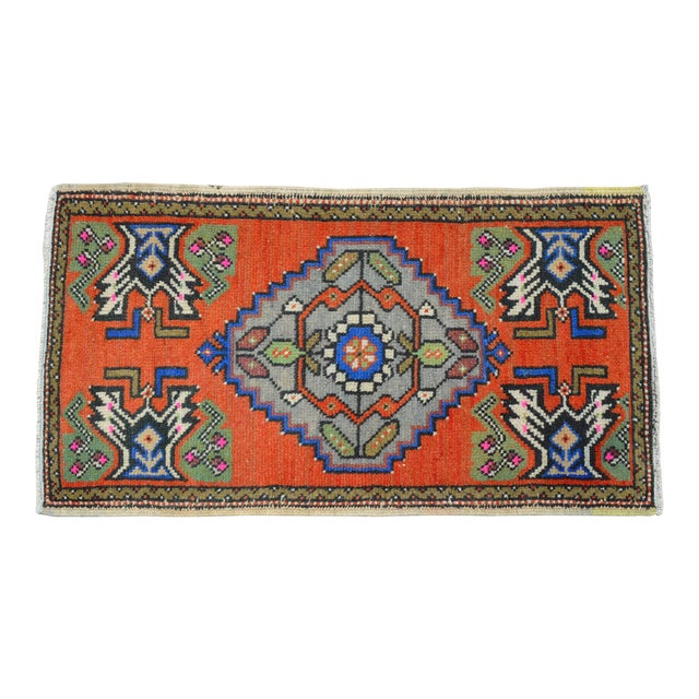"""Hand Knotted Door Mat, Entryway Rug, Bath Mat, Kitchen Decor, Small Rug, Turkish Rug - 1'9"""" X 3'2"""" For Sale"""