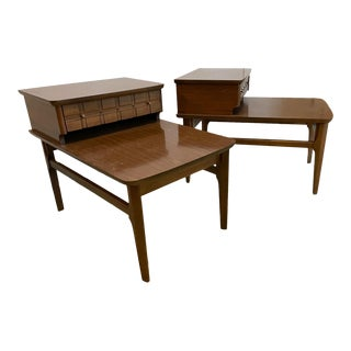 1960s Mersman Mid-Century Walnut Side Tables - a Pair For Sale