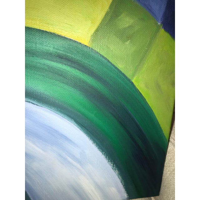 2000s Contemporary Abstract Oil Painting on Canvas For Sale - Image 5 of 8