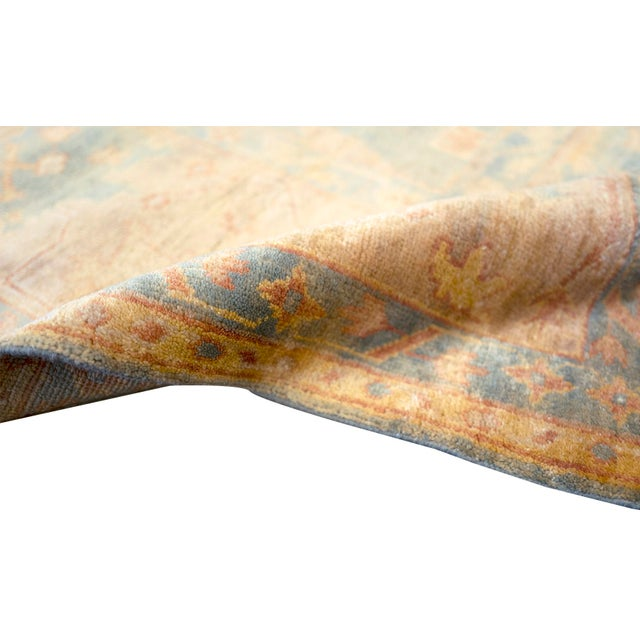 """MANSOUR Mansour Quality Handwoven Oushak Rug - 8'2"""" X 9'10"""" For Sale - Image 4 of 7"""