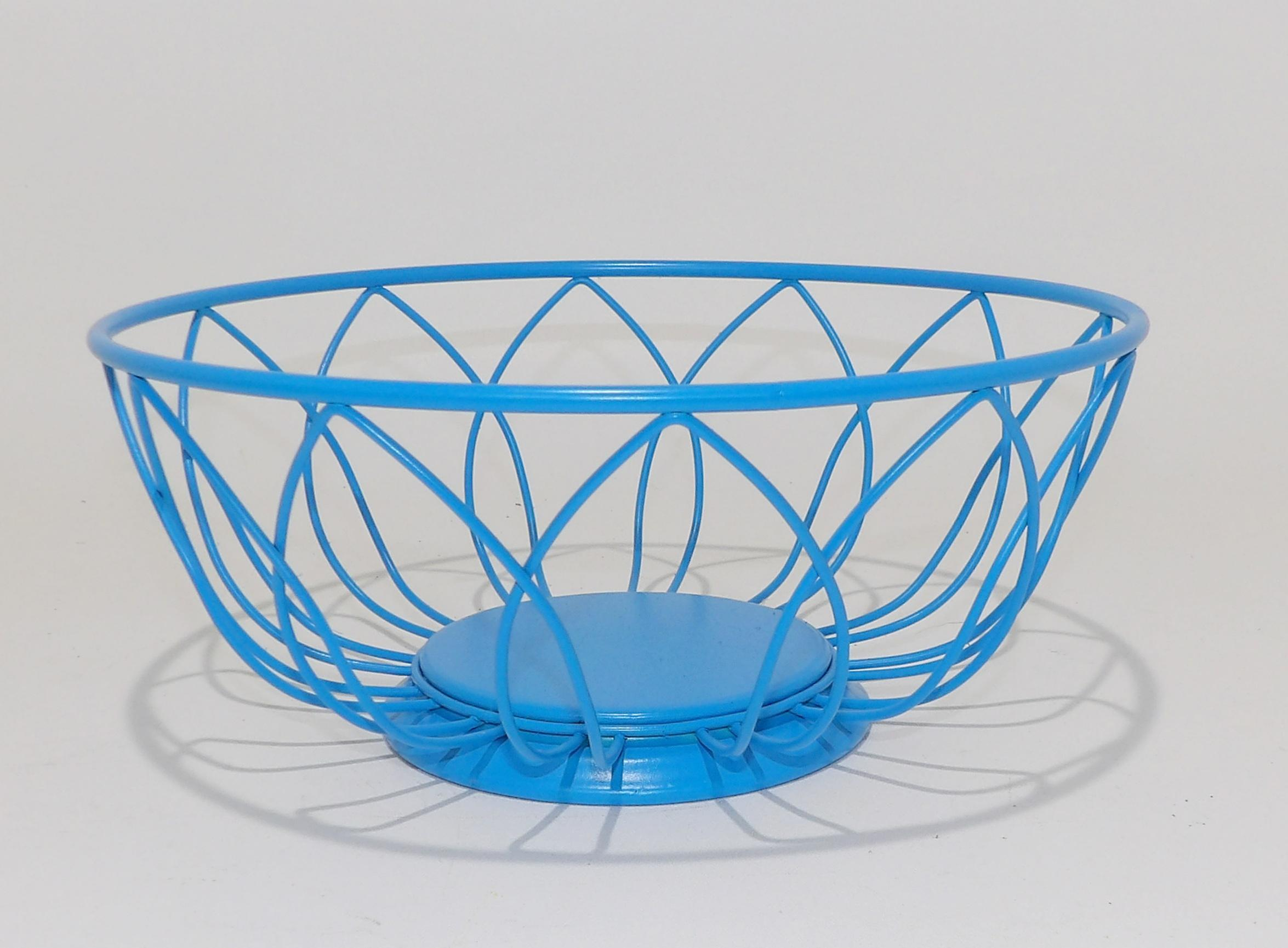 Blue Wire Fruit Bowl - WIRE Center •