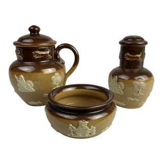 Late 19th Century Royal Doulton Condiment Set For Sale