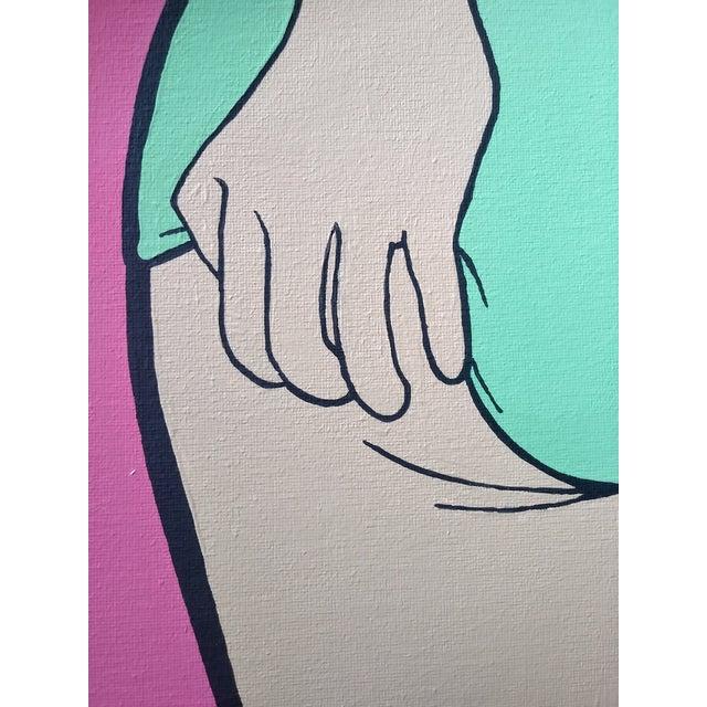 Lictenstien Inspired Original Pop Art Acrylic Painting For Sale In Columbus - Image 6 of 11