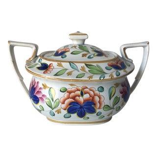 Antique English Pearlware 'Gaudy Dutch' Sugar Bowl