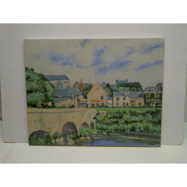 """Canvas 20th Century Contemporary Original Framed Painting on Canvas, """"The Village"""" by Frederick McDuff For Sale - Image 7 of 7"""