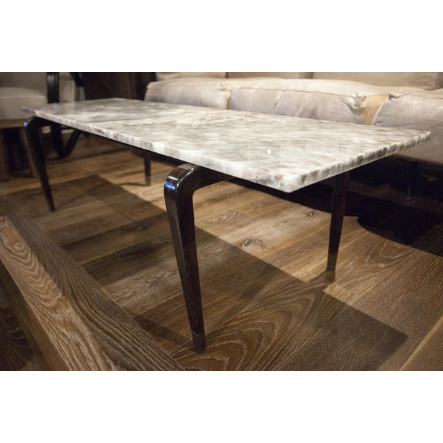 Contemporary Custom Onyx Top Coffee Table For Sale - Image 3 of 5