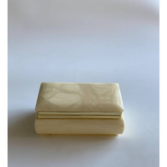 Hand Carved Italian Alabaster Box For Sale - Image 9 of 10