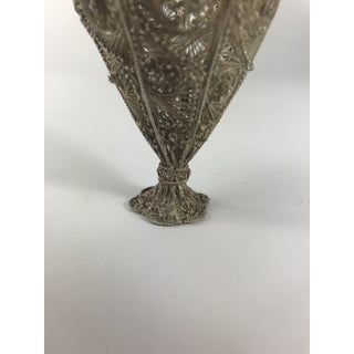 Early 20th Century Antique Sterling Silver Filigree Egg Cup Preview