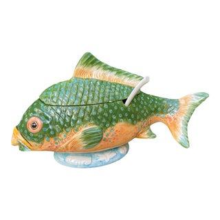 1970s Italian Ceramic Fish Tureen For Sale