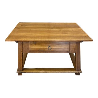 19th Century Rustic Country French Fruitwood Coffee Table For Sale