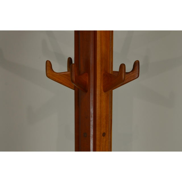 Studio Crafted Solid Cherry Clothes Tree For Sale - Image 9 of 13