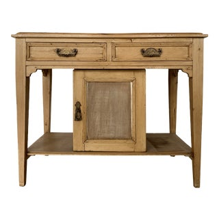 Vintage French Provincial Pine Console Table For Sale