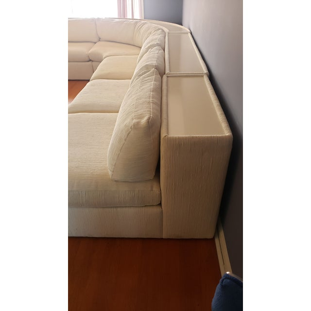 Cream Milo Baughman for Thayer Coggin Sectional Sofa For Sale - Image 8 of 13