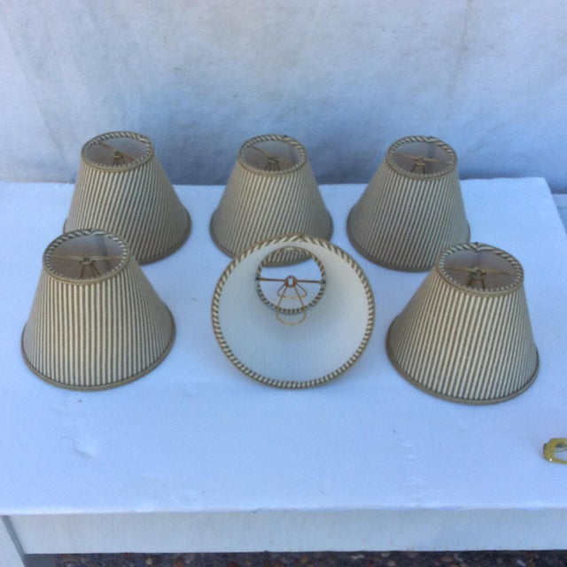 Fabric Custom Chandelier Bulb Shades - Set of 6 For Sale - Image 7 of 8
