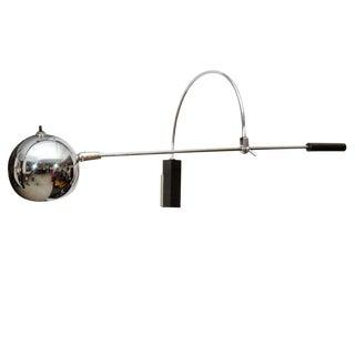 Oribiter Chrome Wall Lamp by Robert Sonneman For Sale