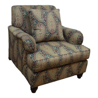 Ralph Lauren Polo Upholstered Arm Chair For Sale