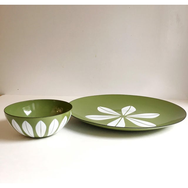Cathrineholm Lotus Enamel Bowl & Charger Set - A Pair - Image 2 of 5