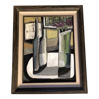 Original Stewart Ross Contemporary Modernist Still Life Painting For Sale