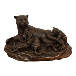 Meiji Period Bronze Grouping of Tigers For Sale