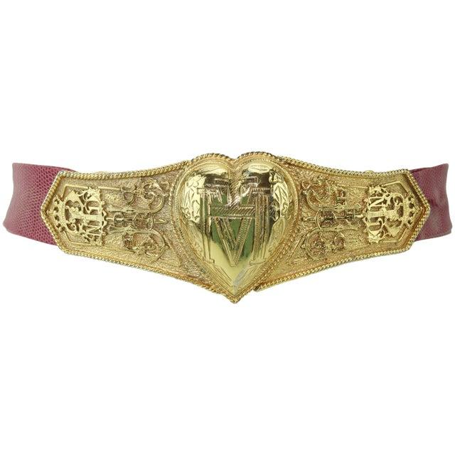Vintage Accessocraft Nyc Ornate Heart Buckle & Belt For Sale - Image 11 of 11