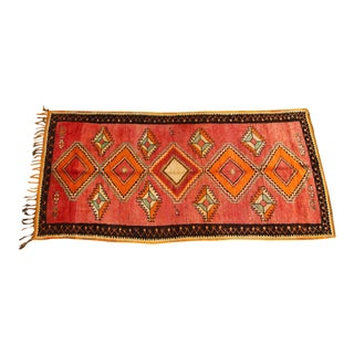Vintage Moroccan Tribal Rug Runner Matisse Style For Sale