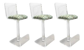 Image of Lucite Bar Stools