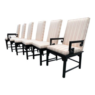 Vintage Asian Style Dining Chairs by Century Furniture - Set of 6 For Sale