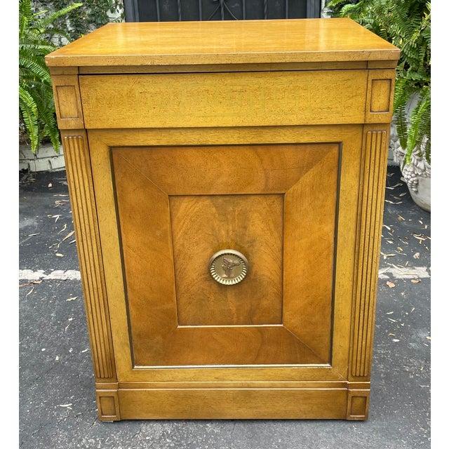 Rare Grosfeld House Hollywood Regency Mid Century Modern Empire Low Secretary Desk Cabinet