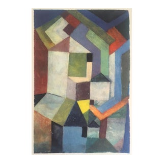 """Paul Klee Rare Vintage 1969 Abstract Modernist Lithograph Print """" Pios Northern Landscape """" 1917 For Sale"""
