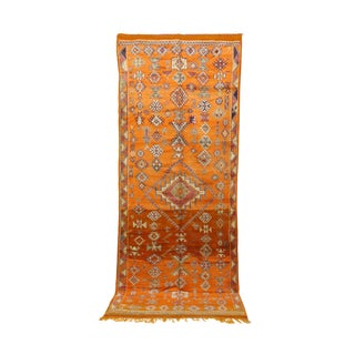 "Taznakht Vintage Moroccan Rug, 4'11"" X 11'11"" Feet"