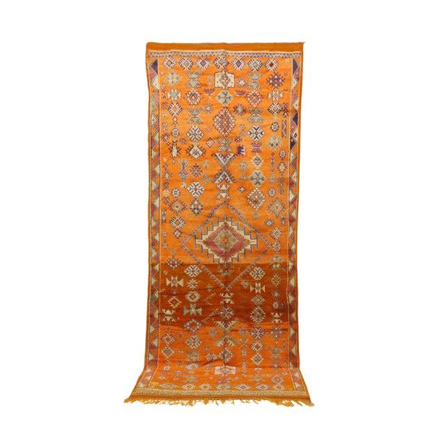 """Taznakht Vintage Moroccan Rug, 4'11"""" X 11'11"""" Feet For Sale"""