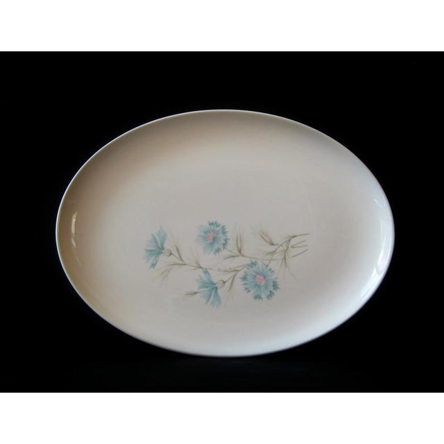 Mid-Century Modern Vintage Ever Yours Boutonniere Oval Large Serving Platter by Taylor, Smith and Taylor For Sale - Image 3 of 6