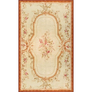 """Pasargad's Antique Abusson Wool Rug - 11'4"""" x 19' For Sale"""